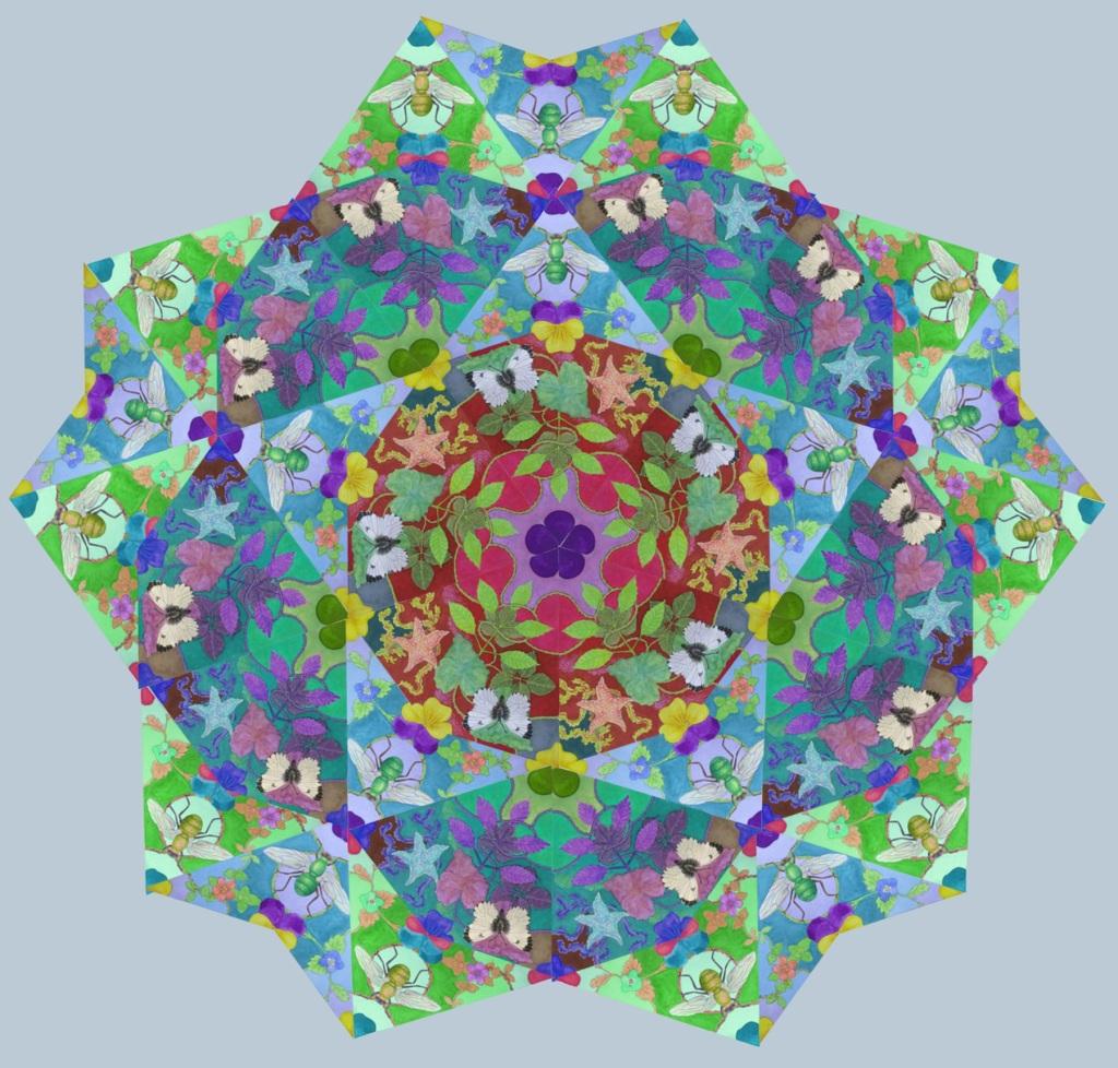 Mandala composed of decorative Penrose tiles
